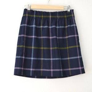 J Crew Factory Wool Plaid Sidewalk Skirt